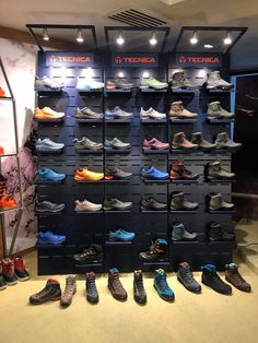 Presentation of ski shoes and skis by Tecnica group on X.Light for Blizzard, Nordica, Tecnica brands X.light Premium display, shelf, Ski holder (Event furniture available for sale and rental) Shoe Display, Display Shelves, Shelving, Shoe Store Design, Clothing Store Design, Aesthetic Room Decor, Retro Aesthetic, Organiser Son Dressing, Clothes Stand