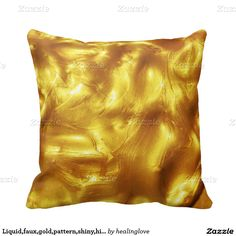 Liquid,faux,gold,pattern,shiny,hipster,fun,trendy, Throw Pillow