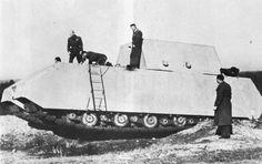 """1943, Allemagne, Essais du Panzerkampfwagen VIII """"Maus"""" (Porsche Typ 205 - Sd.Kfz. 205) 21/26   par ww2gallery"""
