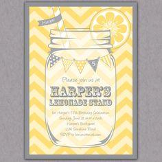 Lemonade Stand Party Invitation - via Etsy.
