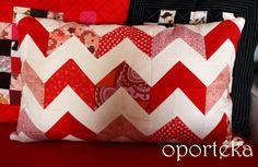 ozsuzsanna: Cikk-cakk párna - Elkészítési útmutató / Chevron pillow - Tutorial Chevron Pillow, Pillow Tutorial, My Works, Throw Pillows, Bed, Toss Pillows, Cushions, Stream Bed, Chevron Throw Pillows