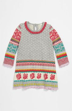 Way too much $$, but stinking adorable. United Colors of Benetton Kids Knit Dress (Infant) | Nordstrom