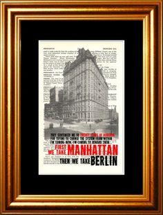 Leonard Cohen First We Take Manhattan  then We by ForgottenPages, $8.00