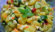 Jak připravit lehký salát z nových brambor se zeleninou a sýrem Pasta Salad, Potato Salad, Potatoes, Ethnic Recipes, Food, Crab Pasta Salad, Potato, Essen, Meals