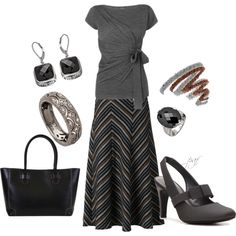 """""""touch of brown, for fall"""" by patricia-fincham on Polyvore $25 DSW shoes"""