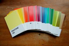 panatone postcards- love it! available to buy at chronicle books, image from joliejoliedesign