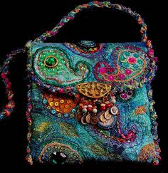 Beautiful paisley crafted bag.