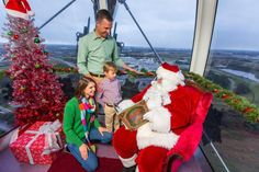 Visitors to The Orlando Eye and I-Drive 360 during the holiday season can enjoy holiday-themed capsules, ice skating, flights with Santa and so much more.