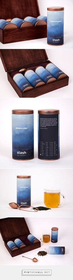 Stash Tea Company PD | stunning tea packaged in a cylindrical container #packaging #design