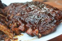 ginger garlic honey ribs~ crockpot style-    our new family favorite.