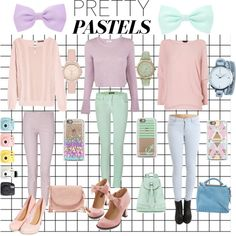 """Some of my favorite pastel colors x"" by shaunasxd on Polyvore"