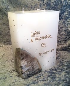 I make unique wedding candles according to individual wishes. An Un … - Standesamt Candle Shop, Candle Jars, Unique Weddings, Customized Gifts, Pillar Candles, Wedding Ceremony, Wedding Decorations, Shapes, Homemade