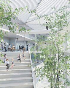 sou fujimoto paris school oxo architectes learning centre ecole polytechnique designboom