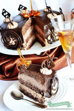 Tort Pax, tort preparat in casa cu ciocolata.Cea mai buna reteta de tort cu ciocolata este Tortul Pax. Reteta cu poze.Prajitura Pax Chocolate Fondue, Tiramisu, Panna Cotta, Biscuits, Food And Drink, Sweet, Ethnic Recipes, Desserts, Home