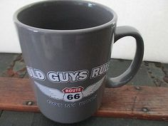Harley Dude Ceramic Travel Mug with Lid Black Orange