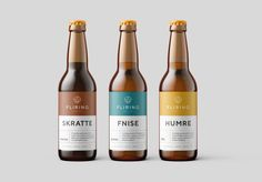 Despite the name (fliring = laughing in Norwegian) this local micro brewery is no laughing matter – owner Robert is pretty serious about great craft beer! Robert wanted a clean and modern brand id. Beverage Packaging, Bottle Packaging, Brand Packaging, Packaging Design, Coffee Packaging, Food Packaging, Kombucha, Craft Beer Labels, Wine Labels