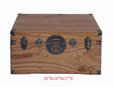 Camphor Wood Chest Trunk Chinese Antique Coffee Table - Golden Lotus Antiques