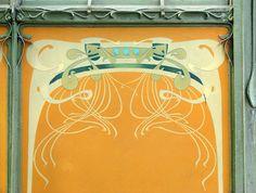 Décor de la station art nouveau de la porte Dauphine (Hector Guimard)