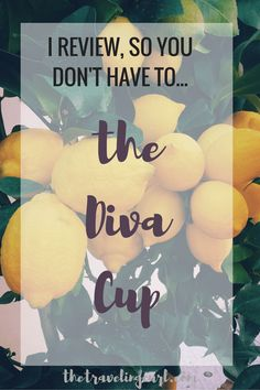 I Review, So You Don't Have To...The Diva Cup