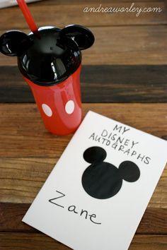 DIY Disney Autograph Books — Andrea Worley