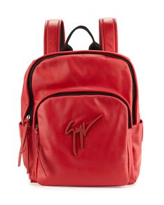 GIUSEPPE ZANOTTI Men'S Tonal-Logo Leather Backpack. #giuseppezanotti #bags #leather #backpacks