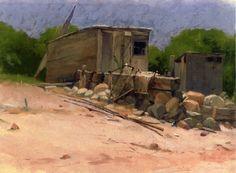 Dennis Miller Bunker (American, 1861-1890)  The Shed  1880
