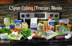 Clean Eating {Freezer} Meals - Six Cents