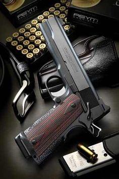 1911 Pistol, Revolver, Tactical Equipment, Tactical Gear, Weapons Guns, Guns And Ammo, Rifles, Custom 1911, Gun Art