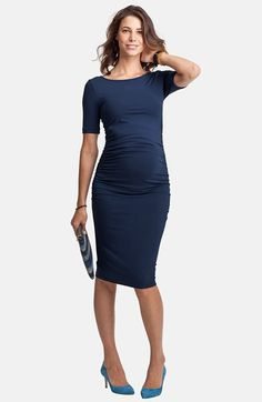 Isabella Oliver Ruched Maternity Dress available at Maternity Dresses For Baby Shower, Maternity Wear, Maternity Fashion, Summer Maternity, Maternity Styles, Simple Dresses, Dresses For Work, Stitch Fix Maternity, Types Of Dresses