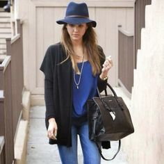 How to Chic: JESSICA ALBA IN A FELT HAT