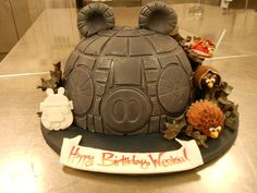 Angry Birds Star Wars cake.  Gluten Free layers of chocolate, and coconut chocolate chip cake, with vanilla bean buttercream.  Fondant cover...