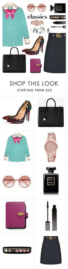 """Untitled #861"" by m-jelic ❤ liked on Polyvore featuring Christian Louboutin, Yves Saint Laurent, Gucci, Dolce&Gabbana, Chanel, Mulberry, Serge Lutens and Marc Jacobs"