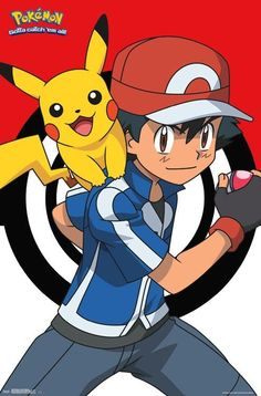Wall Poster - Pokemon- Pikachu and Ash - -You can find Poster and more on our website.Wall Poster - Pokemon- Pikachu and Ash - - Ash Pokemon, Pikachu Pikachu, Pokemon Ash Ketchum, Pokemon Fusion, Pokemon Cards, Pokemon Poster, Pokemon Party Decorations, Cute Pokemon Wallpaper, Pokemon Birthday