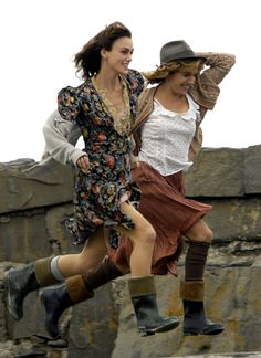 Sienna Miller and Keira Knightley's 1940s style in 'The Edge of Love', 2008.