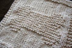 Dog Bone Dishcloth free knitting pattern
