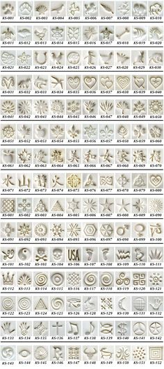KS Stamps in Clay - A great assortment of tools for jewelry, PMC or any other…