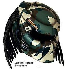 Predator Helmet Street Fighter Style - Army Look #CellosHelmetCustom