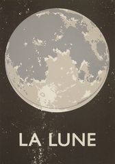 La Lune Screenprint - Inspired by old classroom wallcharts, these fantastic prints from Double Merrick began life as an experiment in replicating old printing techniques, mixing the analogue and the digital, before they truly took on a life of their own. Measuring 71cm x 50cm (28 x 19¾ inches) and printed on heavyweight 270gsm paper, these prints are real beauties.