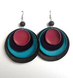 orecchini in pelle/leather earring di Stile Pelle su DaWanda.com