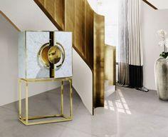 Gilded luxury cabinet by Memoir #homecrux
