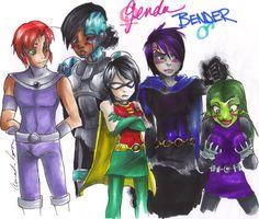 teen titans gender bender | Genderbent Titans c: