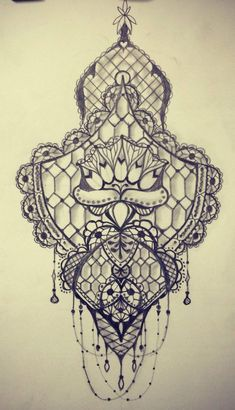 lace tattoo sketch