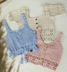 Crochet Bra, Crochet Bikini Top, Bead Crochet Rope, Freeform Crochet, Crochet Clothes, Mode Du Bikini, Crop Top Pattern, Crochet Instructions, Crochet Fashion