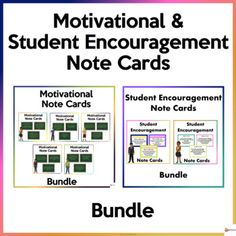This bundle of notecards is a great way to promote a happy and healthy classroom environment and a great way to look after the well-being of your students.This bundle includes:* 50 Motivational Note Cards* 24 Student Encouragement Note CardsA. Motivational Note CardsSchool can sometimes be overwhelm... School Resources, Classroom Resources, Encouraging Notes For Students, Classroom Organization, Classroom Management, All Schools, Classroom Environment, Getting To Know You, My Teacher