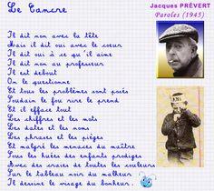 petite douceur du dimanche ,le cancre ,Jacques Prevert - les delires d'adelaide