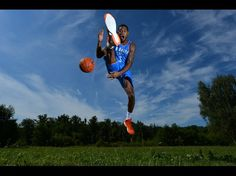 Perry Jones of the Oklahoma City Thunder poses for a portrait during the 2012 NBA rookie photo shoot at the MSG Training Facility in Tarrytown, New York.
