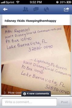 Get signed pictures by Disney characters - send to this address. We'll be doing this to captain Jack Sparrow