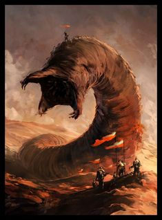 Dune. The Shai-Hulud (worms of Arrakis)