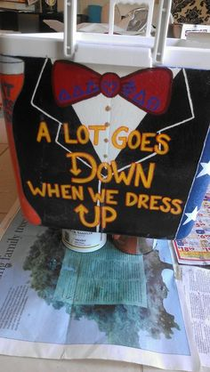Cooler Formal: A Lot Goes Down When We Dress Up (i really like the arrows in the writing)