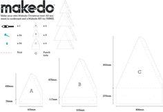 Makedo Christmas tree template!